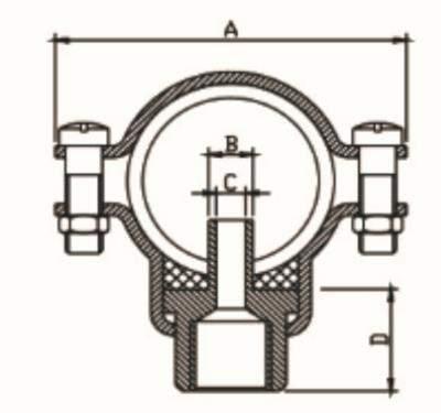 connettore a morsetto metallico 7